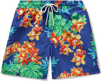 Polo Ralph Lauren Traveler Mid-Length Printed Swim Shorts - Men - Blue