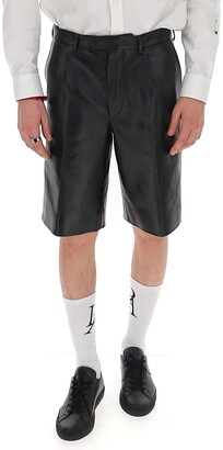 Prada Leather Tailored Shorts