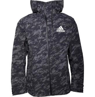 adidas Mens ID Graphic Reflective Jacket Grey Six