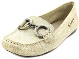 Hush Puppies Cora Womens US Size 6 Gold Suede Loafers Shoes