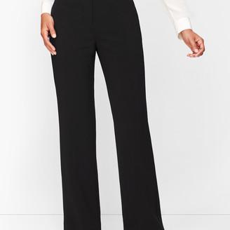 Talbots Stretch Crepe Wide Leg Pants - Curvy Fit