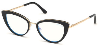 Tom Ford Blue Block Metal Cat-Eye Optical Frames