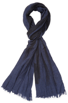 "John Varvatos Graphic Merino Wool Scarf, 78"" x 20"""