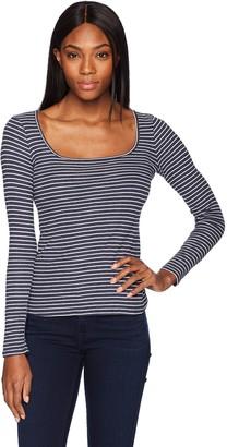 Three Dots Women's Hyannis Stripe Tight mid top