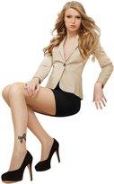 Marilyn Womens Fashion Hosiery Elegant One Leg Bow Side Pattern Tights, 20 Denier