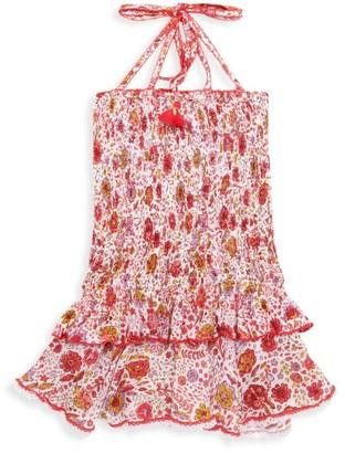 Poupette St Barth Little Girl's & Girl's Floral Smocked Bandeau Dress
