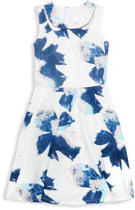 Laundry by Shelli Segal Girl's Floral Fit-&-Flare Dress