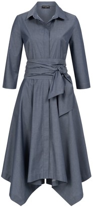 Marianna Déri Laura Shirt Dress Blue With Two Belts