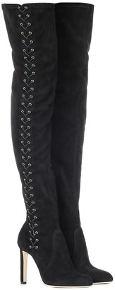 Jimmy Choo Marie 100 suede over-the-knee boots