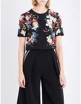 Erdem Floral-printed silk-crepe top