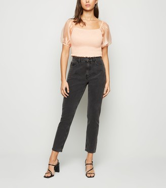 New Look Noisy May Washed Mom Jeans