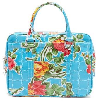 Comme des Garçons Comme des Garçons Floral-print Pvc Bag - Blue