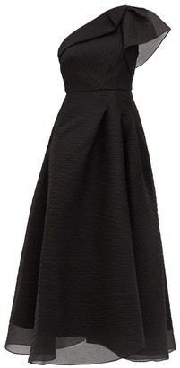 Roland Mouret Ostuni One-shoulder Silk-blend Organza Dress - Black