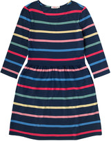 Cath Kidston Multi Stripe Viscose 3/4 Sleeve Dress