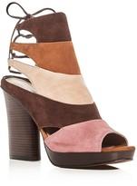 Donald J Pliner Juno Suede High Heel Platform Sandals