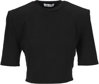 ATTICO Structured Shoulder Tie-Waist T-Shirt