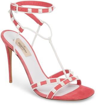 Valentino Free Suede Studded Rockstud Stiletto Heel Sandal