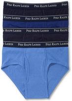 Polo Ralph Lauren Men's Underwear, Classic Cotton Low Rise Brief 4 Pack