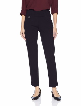 Slim Sation SLIM-SATION Women's Solid Knit Pull On Easy Fit Ankle Pant with Hem Vent