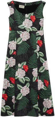 Gucci Hawaiian print silk sleeveless dress