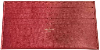 Louis Vuitton Pink Leather Purses, wallets & cases