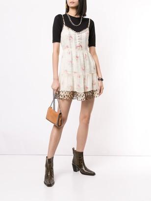 R 13 Silk Floral Print Dress