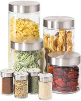 Oggi Airtight Eight-Piece Canister & Spice Jar Set