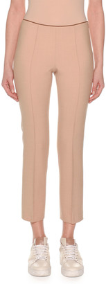 Agnona Flat-Front Straight-Leg Ankle Pants