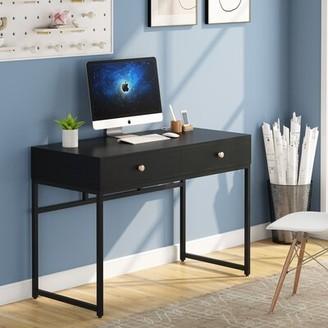 Inbox Zero Desk Color: Black