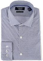Original Penguin Heritage Slim-Fit Spread-Collar Diamond Repeating Print Dress Shirt