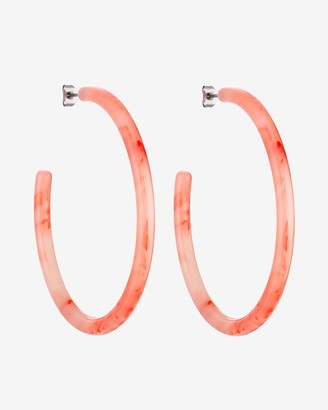Express Machete Coral Large Hoop Earrings