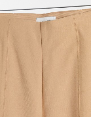 Monki Fiona flared trouser in beige