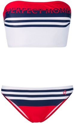 Perfect Moment striped bandeau bikini