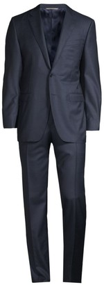 Canali Modern-Fit Glencheck Wool Suit