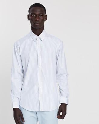 Cerruti Vertical Striped Slim Fit Dress Shirt