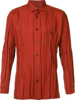 Issey Miyake pleated shirt - men - Polyester/Wool - 4