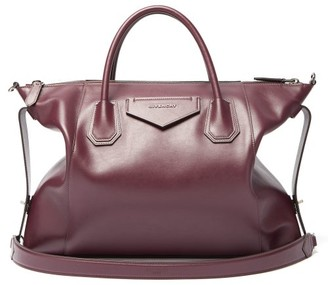 Givenchy Antigona Soft Medium Leather Shoulder Bag - Burgundy