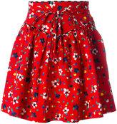 Marc Jacobs painted flower print skirt - women - Silk/Cotton/Spandex/Elastane - 2