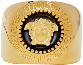 Versace Gold and Black Medusa Ring