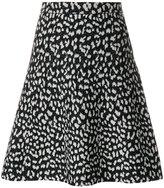 MICHAEL Michael Kors flared patterned skirt
