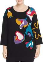 Marina Rinaldi Ali Abstract Floral-Print Sweater