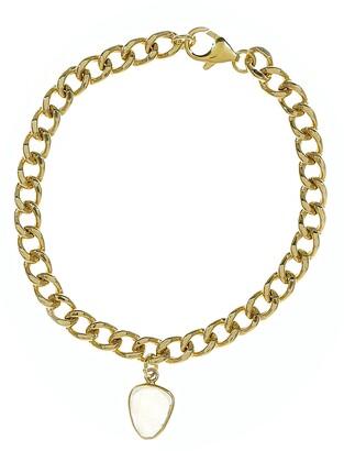 ADORNIA Curb Chain Moonstone Bracelet