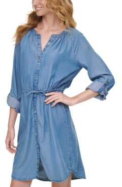 DKNY Chambray Shirtdress