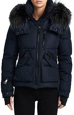 688c543a22198 SAM. Women's Fox Fur Jetset Puffer Jacket