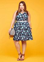 Turn Back Timeless A-Line Dress in Typist in XXS