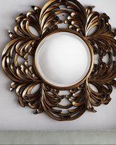 Antiqued Round Mirror