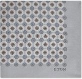 Eton Floral Circle Silk Pocket Square