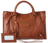 Balenciaga Classic Gold City Leather Shoulder Bag.