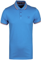 Paul & Shark Double Tipped Sky Blue Short Sleeve Polo Shirt