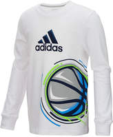 adidas Basketball Graphic-Print Cotton Shirt, Little Boys (4-7)